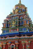 Intricate detail of largest Hindu Temple in the Southern Hemisphere, Sri Siva Subramaniya temple,Nadi, Fiji,2015. Gorgeous image in colorful craftsmanship of stock photography