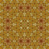 Intricate detail of rug. Computer generated illustration of decorative floor covering Stock Images