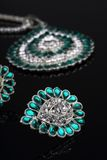 Intricate Diamond Earrings Closeup Stock Photos