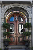 Intricate doorway. To mansion or hotel, or conceptual representing opportunity Stock Image
