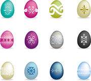 Intricate easter egg set 2 Stock Photos