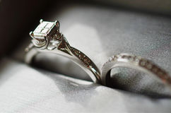 The Intricate Engagement Ring Stock Photo