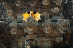 Intricate Facade of Goa Lawah Bat Cave Temple in Bali, Indonesia Royalty Free Stock Photography