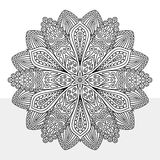 Intricate Flower Coloring Page Royalty Free Stock Photography