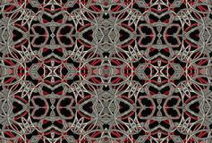 Intricate Geometric Futuristic Pattern Royalty Free Stock Photo