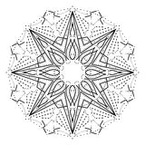 Intricate geometric mandala. Stylized abstract star decorative design element. Vector Stock Images
