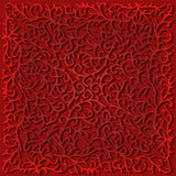 Filigree Lace Graphic, Red. Intricate gradient filigree design in shades of red on a gradient red background Royalty Free Stock Photos