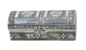Intricate Hammered Silver Box Stock Photos
