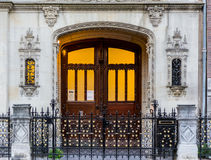 Intricate House Door and Gate in Amsterdam Royalty Free Stock Photos