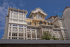 Intricate house facade in Spain Stock Photography