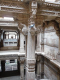 Intricate Indian architecture. An intricately-carved, beautifully-lit, historic architecture of India royalty free stock images