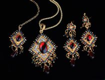 Intricate Indian Gold Jewelry Royalty Free Stock Images
