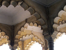 Intricate Indian stone archways Royalty Free Stock Images