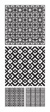 Intricate interlocking designs. A set or collection of black and white interlocking or interwoven designs that tiles seamlessly Stock Photo