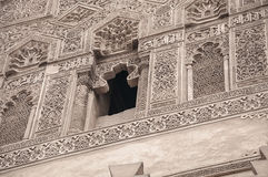 Intricate islamic carving art work Stock Image