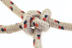 Intricate knot in rope Stock Photography