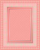 Intricate Lace Frame with polka dot pattern Stock Photography