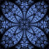 Intricate Lines, Blue Texture Abstract Royalty Free Stock Image
