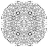 Intricate Mandala. Ornamental round mandala. Geometric circle element made in . Perfect for any other kind of design, birthday and other holiday, kaleidoscope Stock Photography