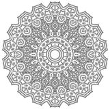 Intricate Mandala. Ornamental round mandala. Geometric circle element made in . Perfect for any other kind of design, birthday and other holiday, kaleidoscope Stock Images