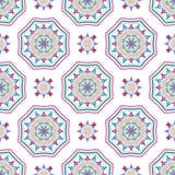 Intricate Mandala Pattern Tile Background Royalty Free Stock Photos