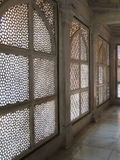 Intricate marble filigree screen Royalty Free Stock Images