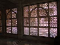 Intricate marble filigree screen, Royalty Free Stock Photography