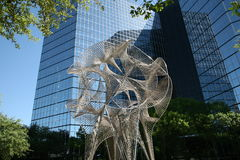 Intricate Metal Structure. At the Hilton hotel, Dallas Texas. Worldwide is one of the largest and fastest growing hospitality companies in the world, with more stock photo