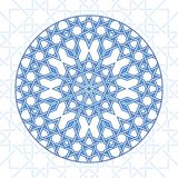 Intricate moorish eastern pattern. Vector background. Plain colors - easy to recolor stock illustration