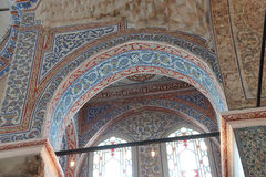 Intricate mosaics of  Blue Mosque Stock Images