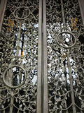 Intricate National Cathedral Entrance Door royalty free stock photos
