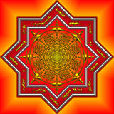 intricate orange mandala Royalty Free Stock Photography