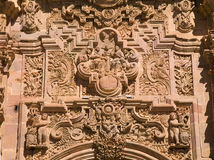 Intricate ornate carving Stock Photos