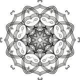 Intricate outline floral mandala circular ornament. Vector Royalty Free Stock Photos