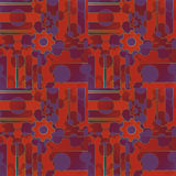 Intricate pattern with gear wheals and circles orange red brown purple. Abstract geometric background. Regular intricate pattern with gear wheals and circles in Royalty Free Stock Photo