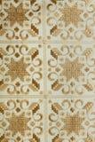 Intricate pattern Lefkariyskogo lace on a white canvas. Stock Photography