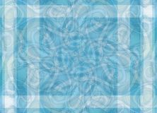 Intricate Patterns Blue Stripe Royalty Free Stock Photo