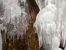Intricate patterns of icicles Royalty Free Stock Image