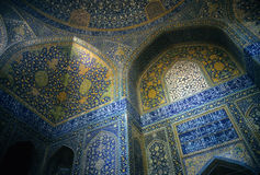 Intricate Persian mosaics, Emam Mosque Royalty Free Stock Images
