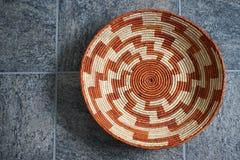 Intricate Pueblo Indian basket Royalty Free Stock Photos