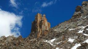 Intricate rocks in Kyrgyz mountains similar to a Royalty Free Stock Photos