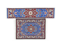 Intricate rug and runner Royalty Free Stock Photo