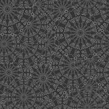 Intricate seamless floral pattern. Repeating gray background with overlapping stylized flowers. Hand drawn pattern. Vector Royalty Free Stock Photos