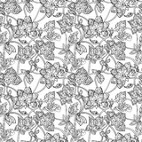 Intricate seamless pattern with decorative Stock Image