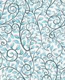 Intricate Seamless Pattern With Leaves Stock Images