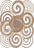 Intricate seamless swirl abstract pattern Royalty Free Stock Images