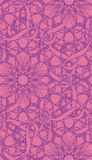 Intricate Seamless Wallpaper Pattern. You can use this repeating pattern to fill your own custom shapes and backgrounds Royalty Free Stock Image