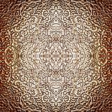 Intricate silver pattern as burnished abstract Royalty Free Stock Photography