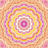 Intricate striped flower-like fractal mandala Stock Photos