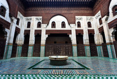 Intricate and symetrical interior tiled courtyard Stock Photos